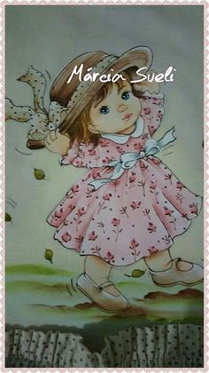 boneca Baby Quilt Patterns, Embroidery Patterns Free, Kids Patterns, Baby Painting, Fabric Painting, Vintage Pictures, Cute Pictures, Brother Innovis, Rope Crafts
