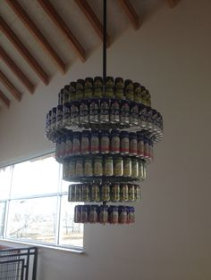 Candelier! Idea from New Belgium Brewery in Colorado! Great for over a bar!