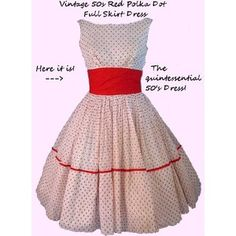 Fifties Dress! This is not a want... it's a NEED. Polka dots and red. Who could go wrong????