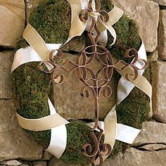 outdoor patio or porch wreath - saw a cross like this today at an Antique shop & they had it center on a Wagon Wheel