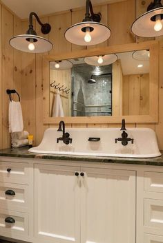 Farmhouse style bathroom light fixtures liz marie blog pinterest 32 ideas of bathroom remodels for small spaces youll want to copy aloadofball Image collections