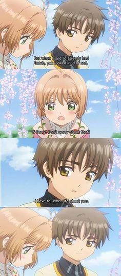 Get someone who looks at you just like Syaoran :^)    Anime/Manga = Cardcaptor Sakura Clear Card-Hen