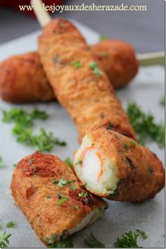 recette de croquettes aux pommes de terre , surimi