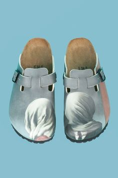 OPENING CEREMONY & MAGRITTE THE LOVERS BIRKENSTOCK BOSTON CLOGS