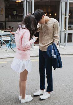 Girl, Boy, Ulzzang and Couple K Fashion, Fashion Couple, Asian Fashion, Couple Outfits, Date Outfits, Cute Korean, Korean Girl, Korean Couple, Ulzzang Couple