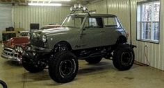 24 Jeeps You Don't See Everyday - Page 17 of 24 - Mentertained. Okay so what is this? Is it a Jeep or a mini Cooper? Well, the answer is both. This is a modified 1965 Mini Cooper outfitted with a 5.7 L V-8 engine on a Jeep frame.
