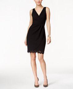 Thalia Sodi Lace Faux-Wrap Dress, Only at Macy's $44