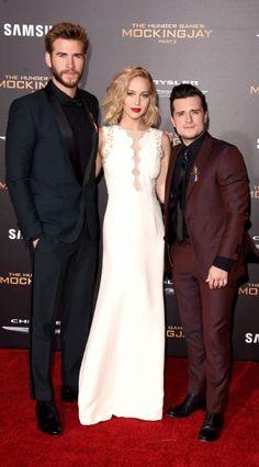 Jennifer Lawrence ♥ Josh Hutcherson ♥ Liam Hemsworth