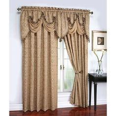 Portofino Raised Polyester Curtain Panel - Walmart.com