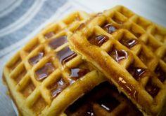 receta de waffles fácil