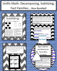 My best selling math lesson all together in one package. Unifix Math: Decomposing, Subitizing, Fact Families….Now