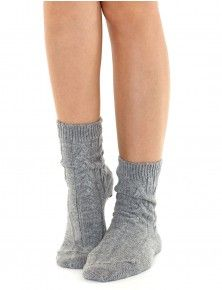 Cashmere Cable Socks
