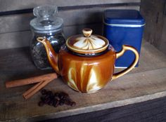 Brown Swirl Pottery Teapot by WhiteheadandLongley on Etsy