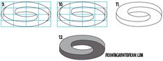 Drawing Step By Step Learn How to Draw an Impossible Oval / Mobius Strip / Möbius Strips in Simple Steps Drawing Lesson for Beginners 3d Drawing Techniques, Drawing Skills, Drawing Lessons, How To Draw Steps, Learn To Draw, Easy 3d Drawing, Impossible Shapes, Drawing Tutorials For Kids, Drawing Ideas