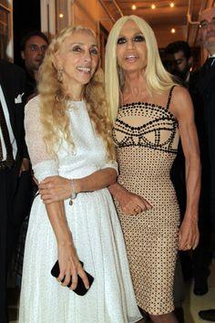 Franca Sozzani and Donatella Versace fete wool