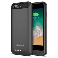 iPhone Battery Case, Trianium Atomic Pro Extended iPhone 7 8 Battery Portable Charger iPhone iPhone 8 [Black] Power Charging Case Pack Juice Bank [Apple Certified Part] Iphone 8 Plus, Buy Iphone, Best Battery Charger, Cell Phone Battery Charger, Portable Charger For Iphone, Iphone Deals, Cheap Iphones, Iphone Hacks, Cell Phone Accessories