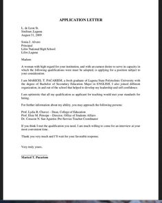 193e409035c144c8cf5a842baa5aa6bf Sample Application Letter To Dean Position on college admission, for employment,