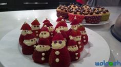 santa strawberries :)