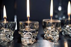 Luxirare Candlelight - these are awesome. i have a couple of those skull shot glasses.. but i use them. otherwise this would be rad.