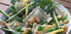 Summer Veg & Ravioli Salad-Baby greens, fresh vegetables and spinach ...