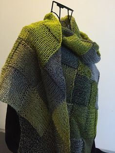Ravelry: Christine Entrelac Shawl pattern by Heather Boos