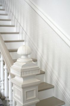 Beautiful Painted Staircase Ideas for Your Home Design Inspiration. see more ideas: staircase light, painted staircase ideas, lighting stairways ideas, led loght for stairways. Painted Staircases, Painted Stairs, Spiral Staircases, Banisters, Stair Railing, Stair Rods, Railings, White Stairs, Newel Posts
