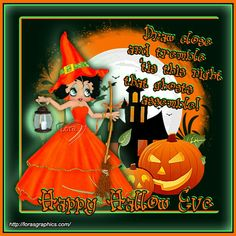 Betty Boop Halloween, Happy Halloween, Betty Boop Pictures, Hallows Eve, Grinch, Cartoon, Christmas Ornaments, Holiday Decor, Drawings