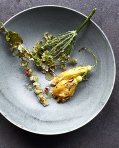 Hungry Ghost - fried courgette flowers