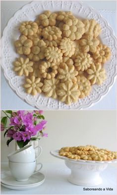 Quick Recipes, Dog Food Recipes, Cookie Recipes, Food Net, Spritz Cookies, Whoopie Pies, Portuguese Recipes, Cookie Designs, Sweet Desserts