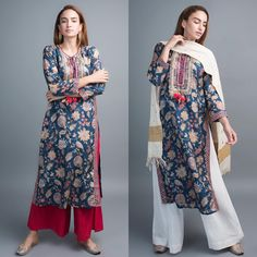 Desi chic or minimalistic, this printed Gopi Vaid kurta is your go-to pick for any day. Whatsapp us now for personal shopping experience! Salwar Designs, Kurta Designs Women, Blouse Designs, Pakistani Dresses, Indian Dresses, Indian Outfits, Pakistani Clothing, Indian Fashion Trends, India Fashion