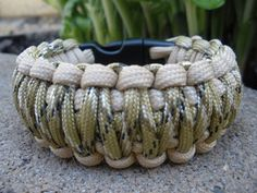 Custom King Cobra Weave Paracord Survival Bracelet - Two Color and Size of Choice $10.00