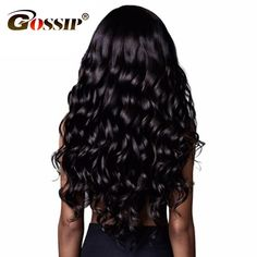 Gossip Pre Plucked 360 Lace Frontal Wig Brazilian Body Wave Human Hair Wigs for Black Women 150% Density Swiss Lace wig Non Remy #Affiliate