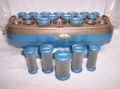 CONAIR Ion Shine 20 Hot Rollers Curlers Hairsetter Flocked Pageant Instant Heat #Conair