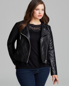 MICHAEL Michael Kors Faux Leather Quilted Moto Jacket | Bloomingdale's