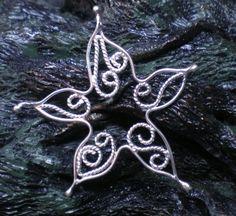 Sterling Silver Filigree Starfish Pendant