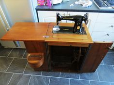 Spent my day refurbishing this lovely 201k Singer treadle sewing machine and cabinet