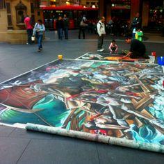 Street artist in Sydney, NSW - Australia