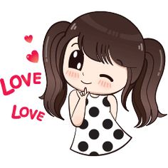 Hi ! My name is Boobib.I like to wear polka dot dress.Let enjoy with my lovely stickers.
