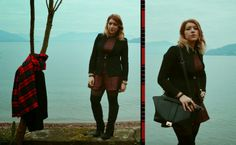 http://www.fashiondupes.com/2014/01/silvian-heach-for-weekend.html #silvianheach #weekend #ootd #ootn #lake #cat #tartan #black #zara #pimkie #outfit #style #blogger