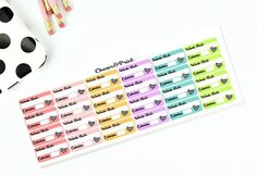 Workout Stickers with Calories // Planner by CharmandPrint on Etsy