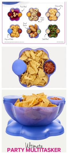 The tupperware chip n dip container!!  WE LOVE THIS THING!