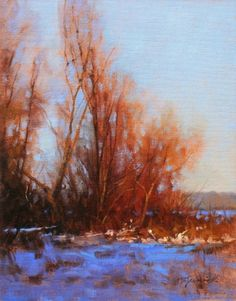 DECEMBER'S LAST LIGHT-- Barbara Jaenicke - oil