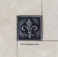Fleur De Lis Deco Insert 4x4 Db 406 Decorative Resin Fauxstone Beige House Pinterest Faux Stone Travertine And
