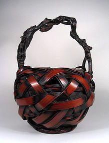 Fine Japanese Ikebana Basket, Meiji