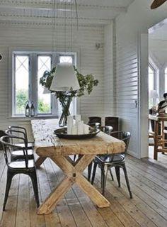 wood table & floors....