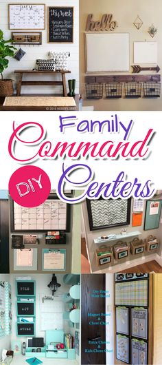 Family Command Center Ideas - Kitchen wall command centers - Declutter your family's schedule and STUFF by organizing with a home / family command center organization wall.