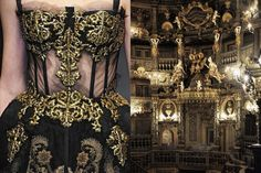 Details at Dolce & Gabbana Fall 2012 | Margravial Opera House in Bayreuth, Germany