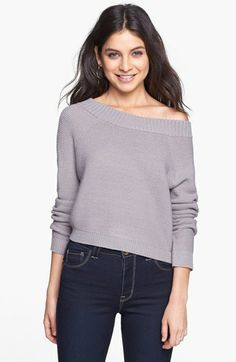 Rubbish® Wide Neck Raglan Sweater (Juniors) available at #Nordstrom