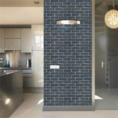 Imitation Brick Pattern Wall Stickers Waterproof Anti-oil Self-adhesive Wallpaper For Living Room Kitchen TV Backdrop Decor(China) Brick Wallpaper Sticker, Wall Stickers Brick, Brick Wallpaper Living Room, Kitchen Wall Stickers, Wall Stickers Home Decor, Wallpaper Furniture, Wallpaper Decor, Home Wallpaper, Adhesive Wallpaper