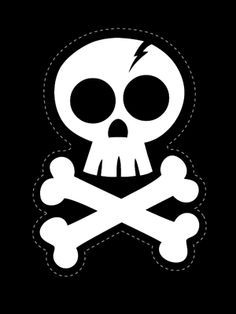 DIY TUTORIALS: Get ready for Halloween with this skull Iron-on! Many iron ons and printable cut outs. Deco Pirate, Pirate Day, Pirate Birthday, Pirate Theme, Fall Halloween, Halloween Crafts, Halloween Party, Halloween Decorations, Halloween Skull